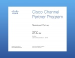Сертификат Registered Partner Cisco